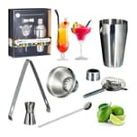 Relaxdays Cocktailset Edelstahl 5-teilig