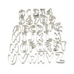Relaxdays Plätzchen Ausstecher Buchstaben & Zahlen