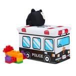 Relaxdays Spielzeugkiste faltbar mit Deckel