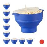 Relaxdays 10 x Popcorn Maker Silikon blau