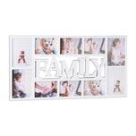 Relaxdays Bilderrahmen Familie für 10 Fotos
