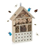 Relaxdays Insektenhotel Hausform