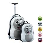 Relaxdays Kinderkoffer mit Rucksack