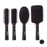 Relaxdays Haarbürste 4er Set
