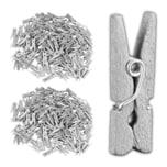 Relaxdays 288x Holzklammern Mini in Silber
