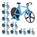 Relaxdays 10 x Fahrrad Pizzaschneider blau