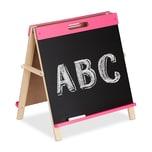 Relaxdays Pinke Kindertafel für Kreide