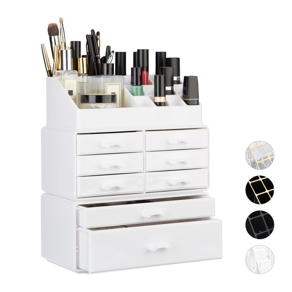 Relaxdays Make Up Organizer mit 8 Schubladen