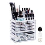 Relaxdays Kosmetikorganizer mit 6 Schubladen
