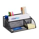 Relaxdays Schreibtischorganizer 5 Ablagen Metall