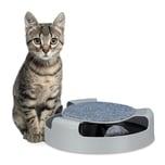 Relaxdays Katzenspielzeug Kugelbahn mit Maus