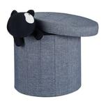 Relaxdays Sitzhocker mit Stauraum Größe L rund