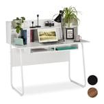 Relaxdays Schreibtisch mit Ablagefächern