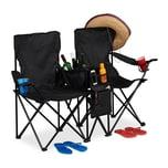 Relaxdays Doppel Campingstuhl