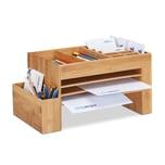 Relaxdays Schreibtisch-Organizer Bambus