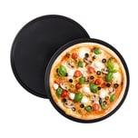 Relaxdays Pizzablech rund 2er Set