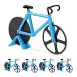 Relaxdays 5 x Fahrrad Pizzaschneider blau