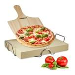 Relaxdays Pizzastein Set 5 cm