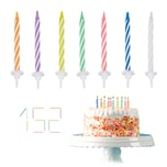 Relaxdays Geburtstagskerzen Set 152-teilig