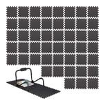 Relaxdays 48 x Bodenschutzmatte Fitnessgeräte Set