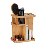 Relaxdays Drehbarer Make Up Organizer Bambus