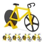 Relaxdays 5 x Fahrrad Pizzaschneider gelb