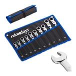 Relaxdays Flexibles Schraubenschlüssel Set 10-tlg.