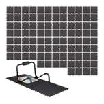 Relaxdays 96 x Bodenschutzmatte Fitnessgeräte Set