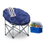 Relaxdays Campingstuhl Moonchair für 120 kg