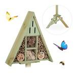 Relaxdays Insektenhotel Dreieck auf Ständer