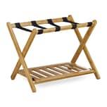 Relaxdays Kofferständer Bambus mit Ablage
