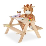 Relaxdays Kindersitzgruppe Holz