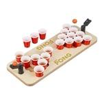 Relaxdays Mini Beer Pong mit roten Bechern