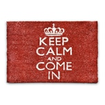 Relaxdays Fußmatte KEEP CALM AND COME IN