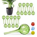 Relaxdays 20 x Bewässerungskugel Glas grün
