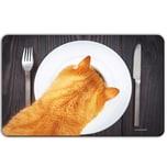REMEMBER Frühstücksbrettchen 'Pfoten weg!' bunt