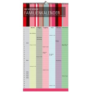 REMEMBER Familienkalender bunt