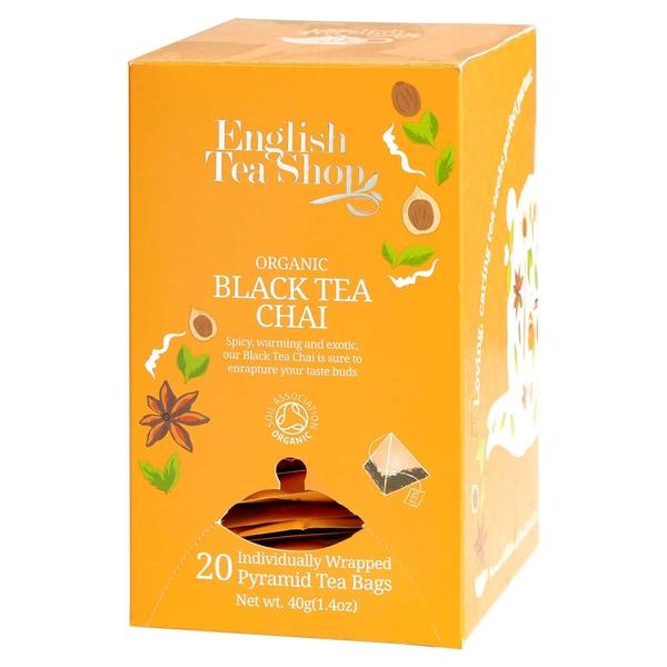 English Tea Shop Black Tea Chai Bio 20 Pyramiden Beutel einzeln kuvertiert