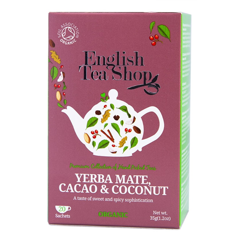 English Tea Shop Yerba Mate Kakao & Kokosnuss Bio 20 Teebeutel #