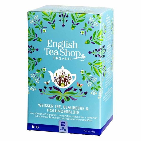 English Tea Shop - Weißer Tee, Blaubeere & Holunderblüte, BIO, 20 Teebeutel
