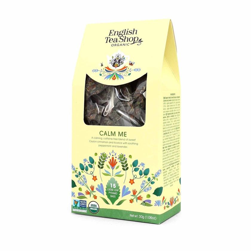 English Tea Shop Calm Me Bio 15 Pyramiden Beutel in Papierbox