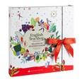 """English Tea Shop - Teebuch Adventskalender mit Schleife """"Wellness"""", 25 Boxen mit BIO-Tees in hochwertigen Pyramiden-Teebeuteln"""