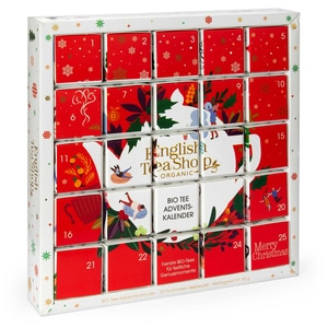 "English Tea Shop - Puzzle Tee Adventskalender ""Red Christmas"", BIO, 25 einzelne Boxen"