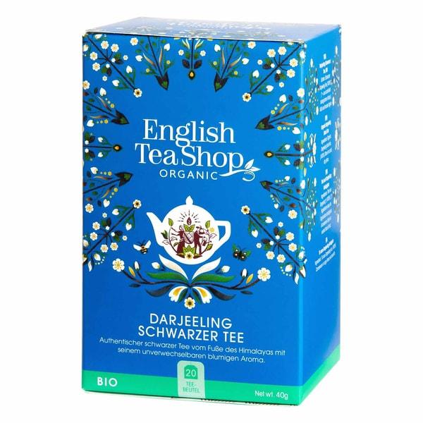 English Tea Shop Darjeeling Schwarzer Tee Bio 20 Teebeutel