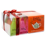 English Tea Shop Rooibos Tee Kollektion Bio Teegeschenk mit Schleife 12 Pyramiden Beutel