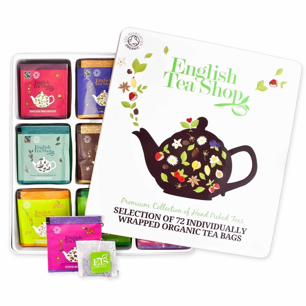 English Tea Shop Classic Collection Tee Geschenkbox aus Metall mit 72 Bio Tees