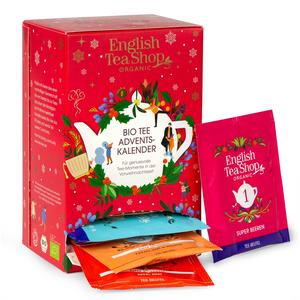 English Tea Shop - Tee Adventskalender rot, 24 einzeln verpackte Teebeutel mit BIO-Tees