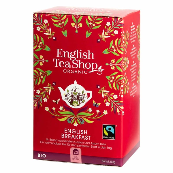 English Tea Shop English Breakfast Bio Fairtrade 20 Teebeutel