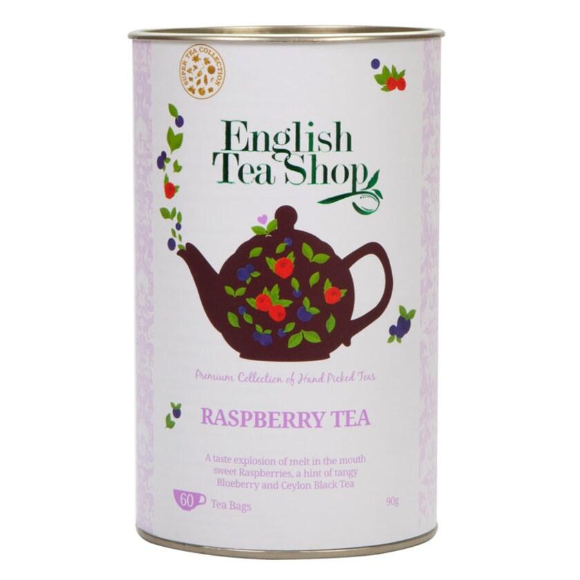 English Tea Shop Himbeere Schwarzer Tee Bio 60 Teebeutel in Dose
