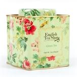 English Tea Shop - Grüner Tee, BIO, Loser Tee, 85g Dose (Shabby Chic Floral Tin)